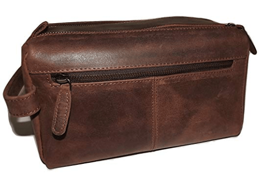 Paul & Taylor Leather Hunter Dual Top Zip Toiletry-min