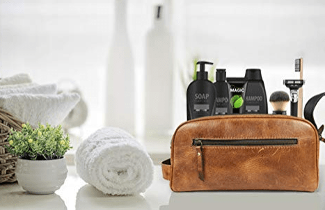 leather travel kit for men with saving kit-min