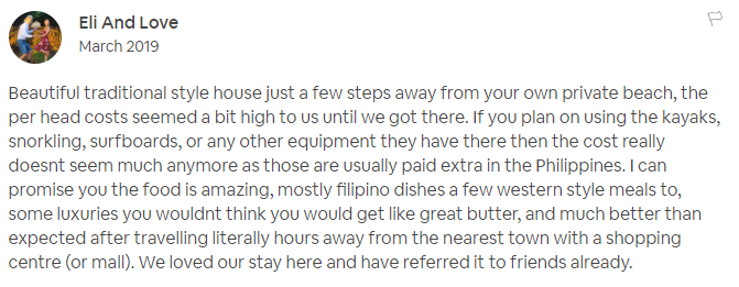 Best AIrbnb Philippines Palawan