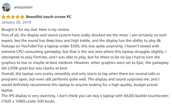 HP pavillion customer reviews