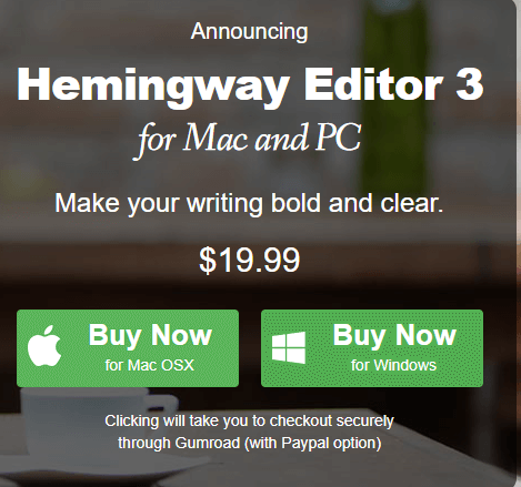 Hemingway app review pricing