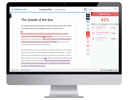 Turnitin Feedback Studio a good plagiarism checker
