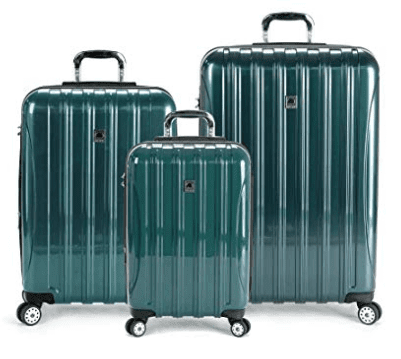 DELSEY Paris Delsey Luggage Helium Aero 3 Piece Spinner Luggage Set (Teal)