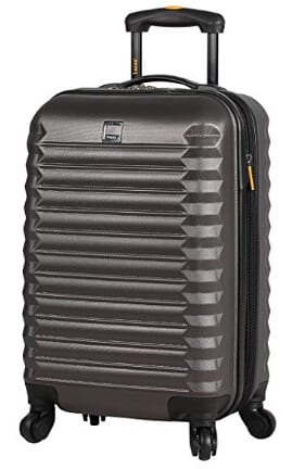 Lucas ABS Large Hard Case 28 inch Checked Suitcase With Spinner