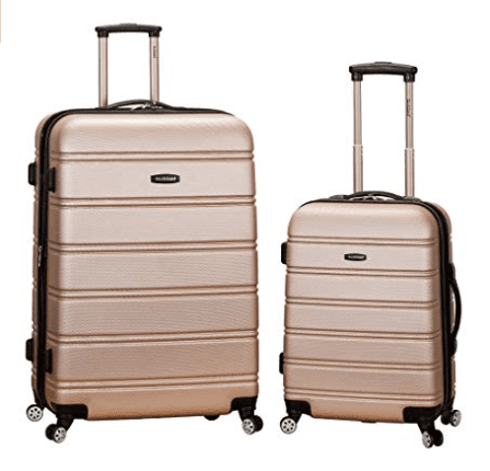 Rockland Luggage 20 Inch 28 Inch 2 Piece Expandable Spinner Set, Champagne, One Size
