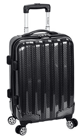 Rockland Melbourne Non-Expandable Abs Carry On, Black Fiber