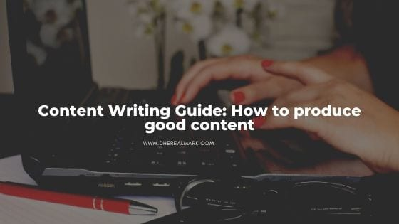 How to write good content