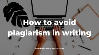 How to avoid plagiarism in writing