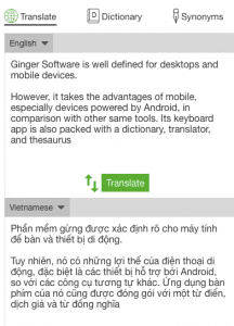 Ginger Software Translator