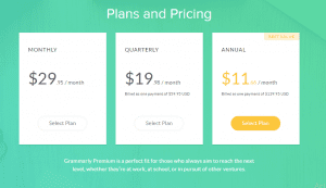 Grammarly Plans & Pricing