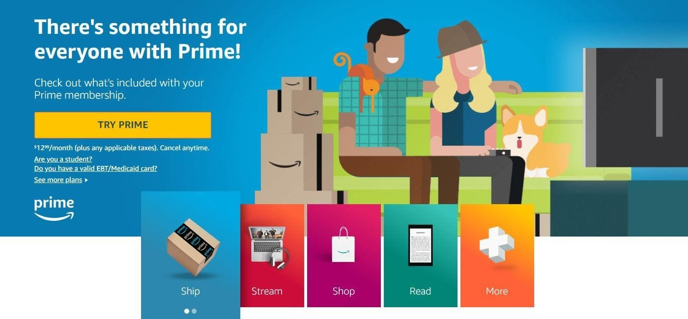 how to get amazon prime free trial without credit card