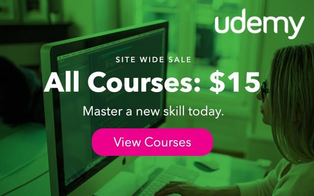 Udemy Review Sale