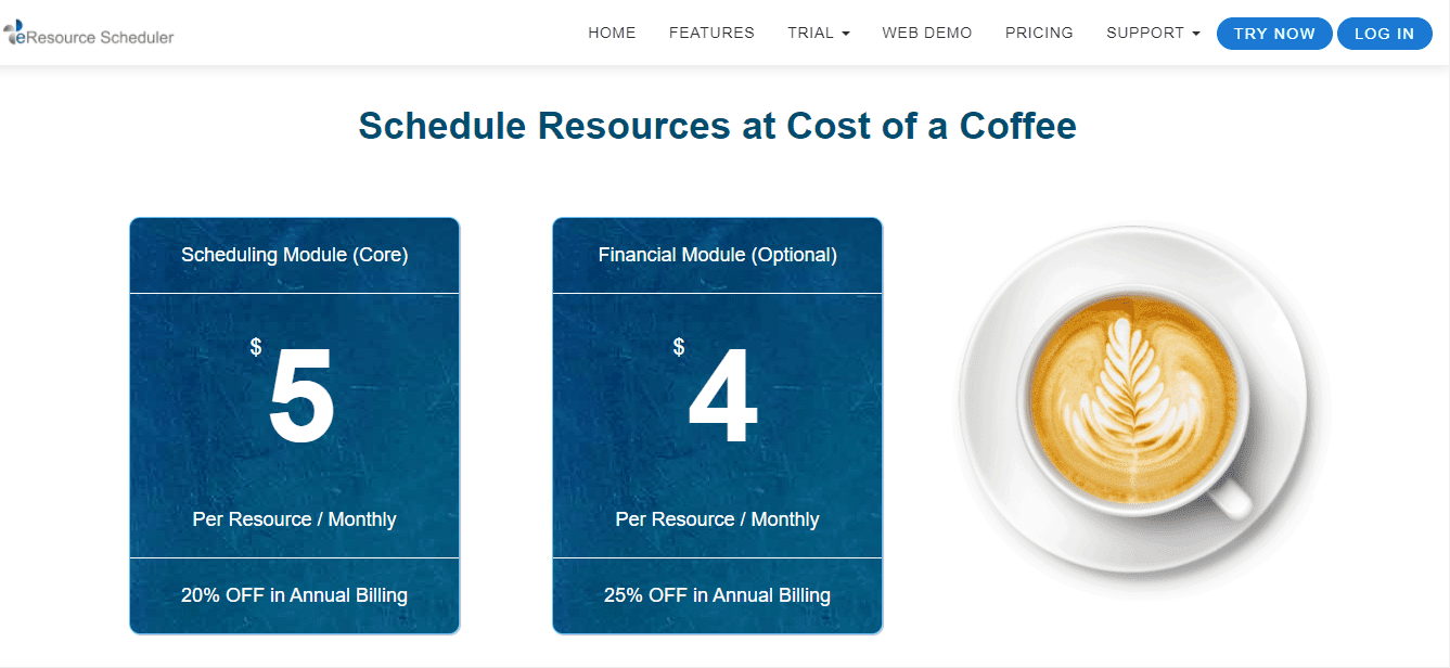 eresource scheduler pricing